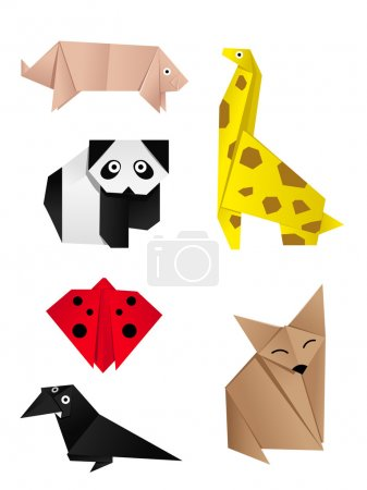 Illustration for Hi-detail vector of another origami of animals - Royalty Free Image