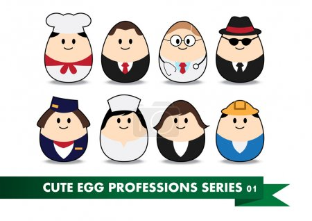 Photo for Collection of profession image in egg-shaped - Royalty Free Image