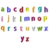Colorful 3d vector Abc letters