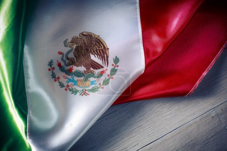 Photo for Mexican Flag with dramatic lighting, Independence day, cinco de mayo celebration - Royalty Free Image