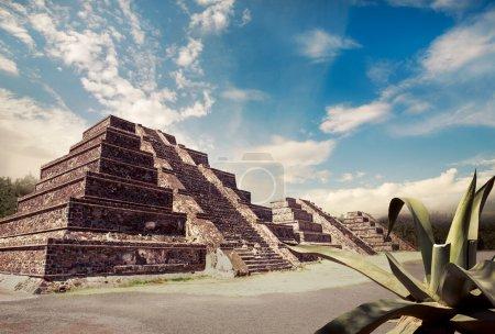Aztec pyramid, Mexico