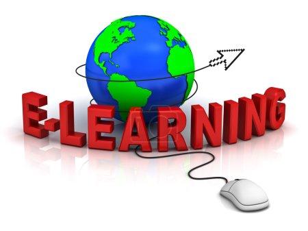 Photo pour Concept d'apprentissage sur fond blanc avec reflet - image libre de droit