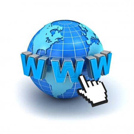 Internet world wide web symbol concept