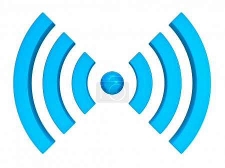 3d wi-fi wireless icon isolated on white backgroun...