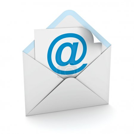Email sign in envelope over white background