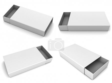 Photo for Collection of blank slide boxes on white background - Royalty Free Image