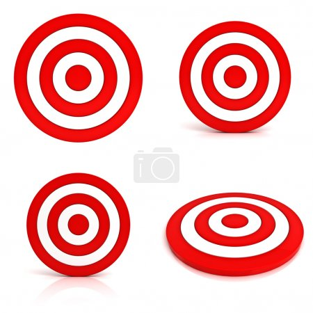 Collection of red targets