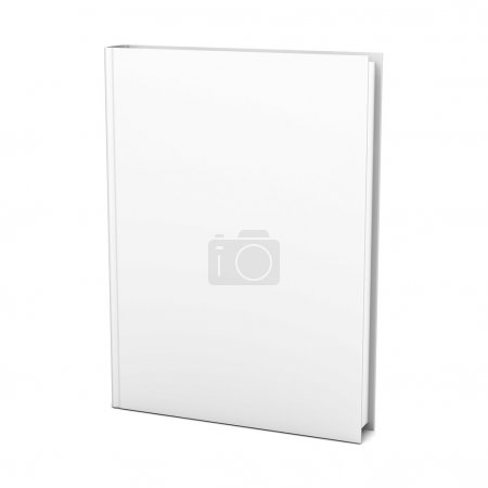 Blank book on white