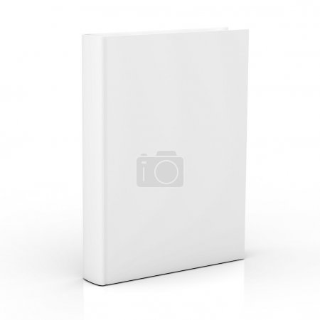 Blank book cover isolated on white background