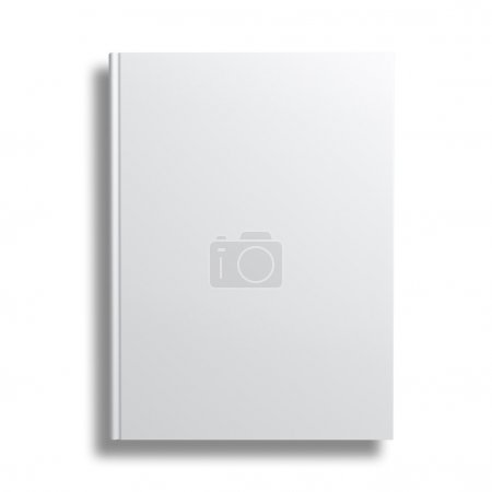Blank book cover isolated over white background