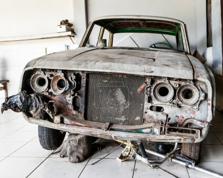 Very Old and Decrepit Car Awaiting Restoration
