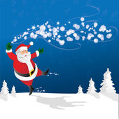 Santa floating