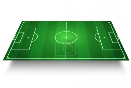 Soccer/Football Field vector 3D