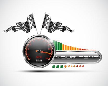Racing banner design elements