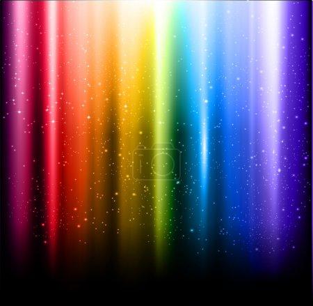 Abstract vector rainbow aurora background...