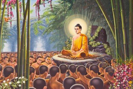 Hanuman painting on Temple of the Emerald Buddha w...