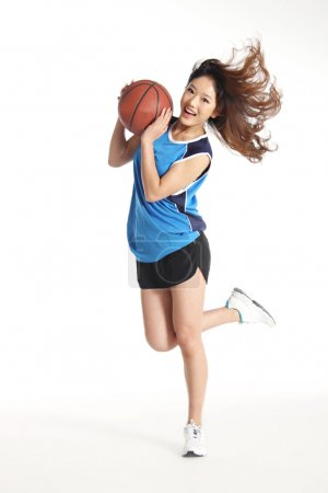 Female asian basketball player