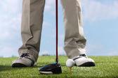 Hráče golfové odpaliště trefit míč