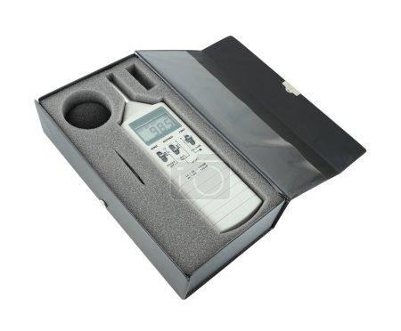 Photo pour Sonomètre en boîte (avec un tracé de détourage) - image libre de droit