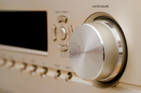 Photo for Part of a home-theater amplifier. - Royalty Free Image