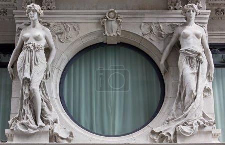 Two Female Neoclassic Statues