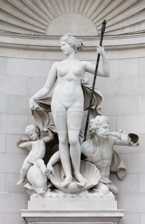 Statue of Venus on the Facade of the Lloyd Palace in Trieste