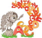 Owl and alphabet