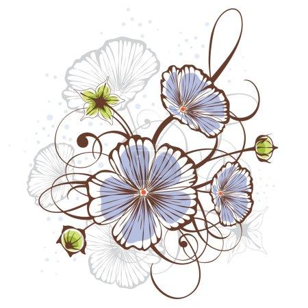 Illustration for Vintage floral design, vector illustration - Royalty Free Image
