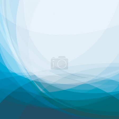 Illustration for Abstract blue background, vector illustration - Royalty Free Image