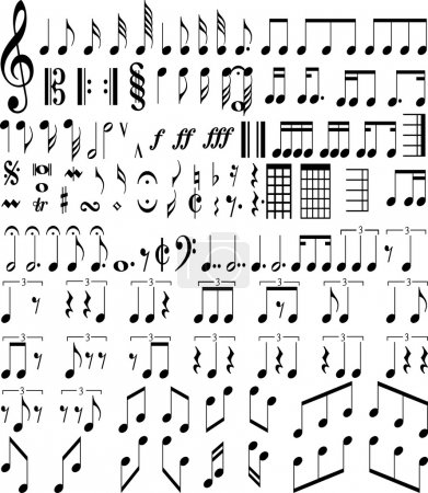 Photo for Music symbols - Royalty Free Image
