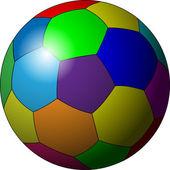 Fotbalový míč v barvách