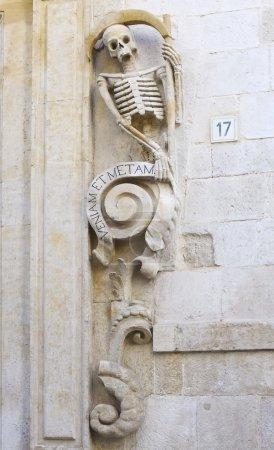Decoration of the prospectus church Santa Maria del Suffrage Purgatory - Bitonto (Italy)