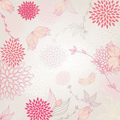 Beautiful background with seamless pattern pink flower