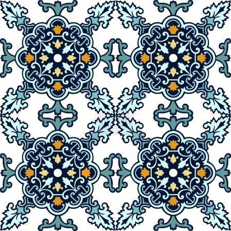 Seamless classic ornament tiles