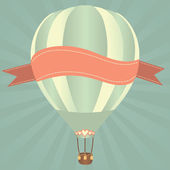 Hot air balloons in the sky Vector illustration Greeting card background