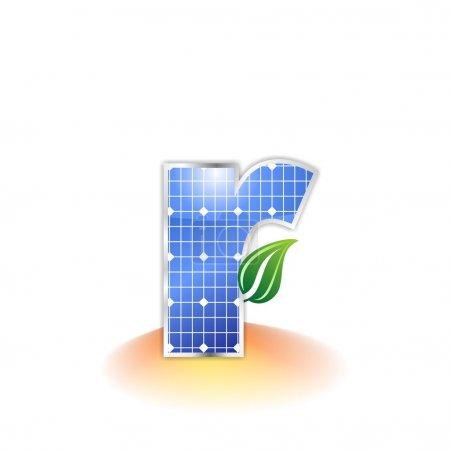 Solar panels texture, alphabet lowercase letter r icon or symbol