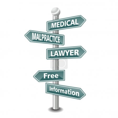 The words medical malpractice lawyer icon designed...