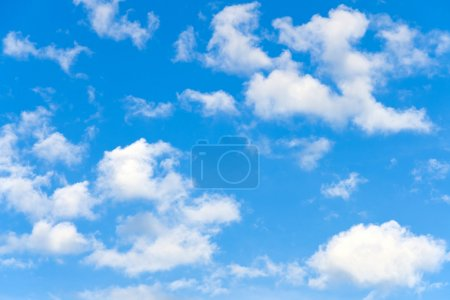 Photo for Clouds with blue sky background - Royalty Free Image