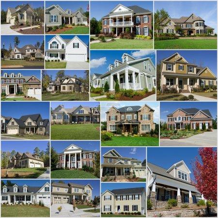 Suburban houses collage