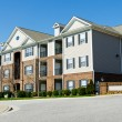 Typical apartment complex building in suburban are...