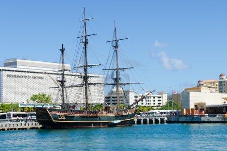 "HMS ""Bounty"" in port of San Juan, Puerto Rico"