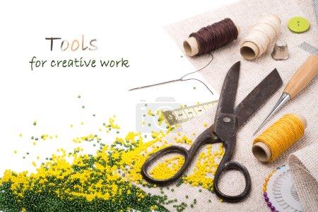 Photo pour Outils pour le travail créatif - image libre de droit