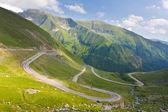 Transfagarasan horské silnici, rumunské Karpaty