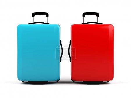 valises isolés sur fond blanc