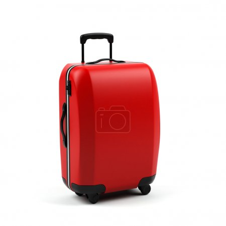 Suitcase isolated on a white background....