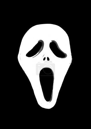 Photo pour Le masque dans le style de film gore classique - le cri - image libre de droit