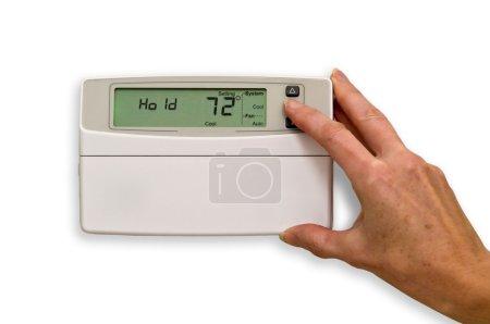 adjusting thermostat
