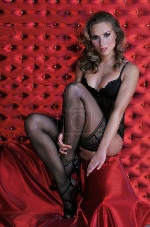 Sexy Lingerie model posing pretty