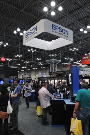 Photo for NEW YORK - OCTOBER 26: attending the PDN PhotoPlus Expo is the largest photography show in North America, was held at the Jacob K Javits Convention Center on New York - Royalty Free Image