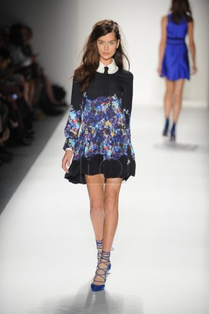 A model walks the runway at the Marissa Webb Spring 2014 fashion show